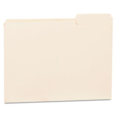 File Folders, 1/3 Cut Third Position, One-Ply Top Tab, Letter, Manila, 100/Box UNV12123