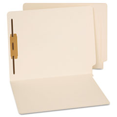 End Tab Folders, One Fastener, Letter, Manila, 50/Box UNV13110