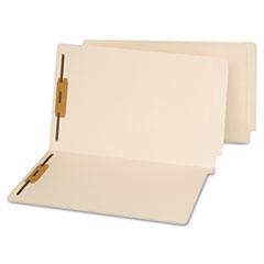 End Tab Folders, Two Fasteners, Legal, Manila, 50/Box