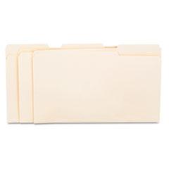 File Folders, 1/3 Cut Assorted, One-Ply Top Tab, Legal, Manila, 100/Box