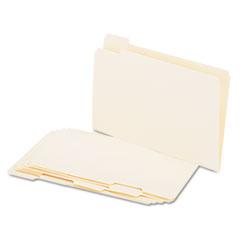 File Folders, 1/5 Cut Assorted, One-Ply Top Tab, Legal, Manila, 100/Box UNV15115
