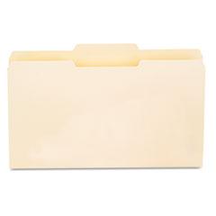 File Folders, 1/3 Cut Second Position, One-Ply Top Tab, Legal, Manila, 100/Box UNV15122