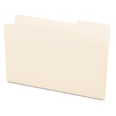File Folders, 1/3 Cut, One-Ply Top Tab, Third Position, Legal, Manila, 100/Box UNV15123