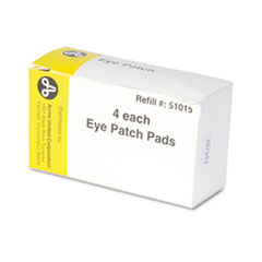 "Emergency First Aid Eye Patch, 2"" x 3"", 4/Box"