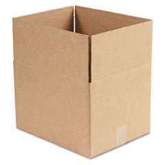 Brown Corrugated - Fixed-Depth Shipping Boxes, 15l x 12w x 10h, 25/Bundle