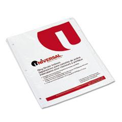 Write-On/Erasable Indexes w/White Tabs, 5-Tab, Letter, White, 5/Set UNV20815