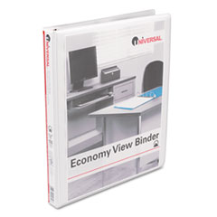 Round Ring Economy Vinyl View Binder, 1/2