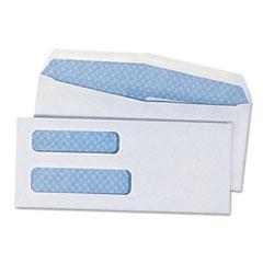 Double Window Check Envelope, #8 5/8, White, 500/Box