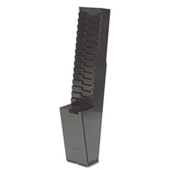 25-Pocket Expanding Time Card Rack, Plastic, Black ACP810118000