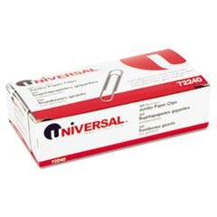 Nonskid Paper Clips, Wire, Jumbo, Silver, 1000/Box UNV72240BX