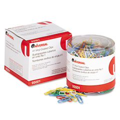 COU ** Paper Clips, Vinyl Coated Wire, No. 1, Assorted Colors, 500/Pack at Sears.com