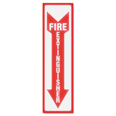 GLOW IN THE DARK SIGN, 4 X 13, RED GLOW, FIRE