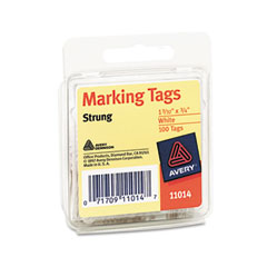 Marking Tags, 1-3/32 x 3/4, White, 100/Pack