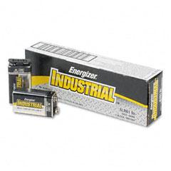 Industrial Alkaline Batteries, 9V, 12/Pack