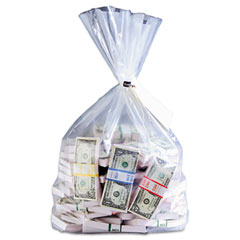 Currency Deposit Bags, 12 x 20, Clear, 100/Box