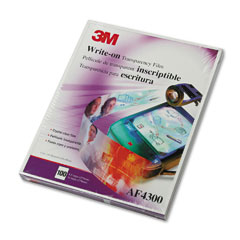 Write-On Transparency Film, Letter, Clear, 100/Box