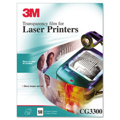 Black & White Laser Printer Transparency Film, Clear, Letter, 50/Box