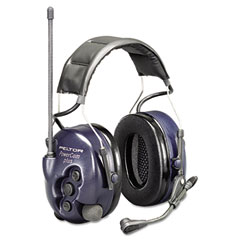 Peltor Powercom Hearing Protection Two-Way Radio Headset, 22 Channels