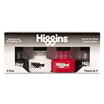 Sanford Higgins Fountain Pen Ink, 1 oz Bottle, Assorted Colors, 4/Set at Sears.com