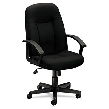 HON VL601 Managerial Mid-back Chair, Black Fabric