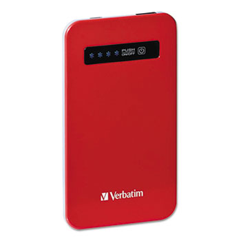 Ultra Slim Power Pack Chargers, 4200 mAh Battery Capacity, Red