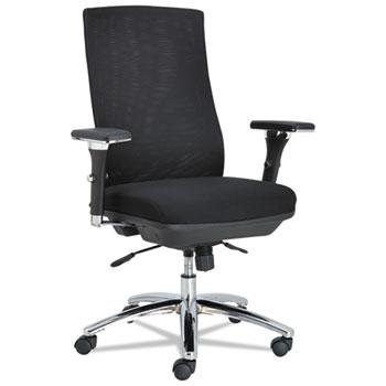 Alera EY Series Mesh Multif Chair, 24-3/8w x 23-1/4d x 42-1/2 to 47-1/4h, Black