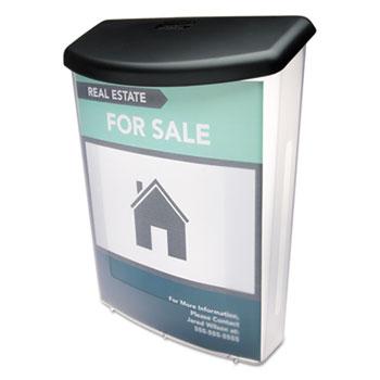 Outdoor Literature Box, 10w x 4 1/2d x 13 1/8h, Clear/Black
