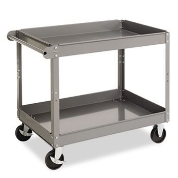 Tennsco Two-Shelf Metal Cart, 2-Shelf, 24w x 36d x 32h, Gray at Sears.com