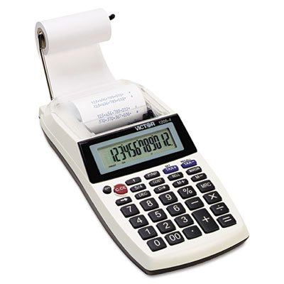 1205-4 Palm/Desktop One-Color Printing Calculator, Black Print,