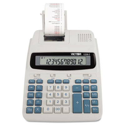 1228-2 Two-Color Roller Printing Calculator, Black/Red Print, 2.