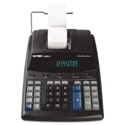 1460-4 Extra Heavy-Duty Printing Calculator, Black/Red Print, 4.