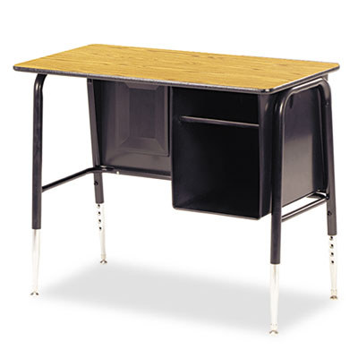 Jr. Executive Desk, 34w x 20d x 30h, Medium Oak