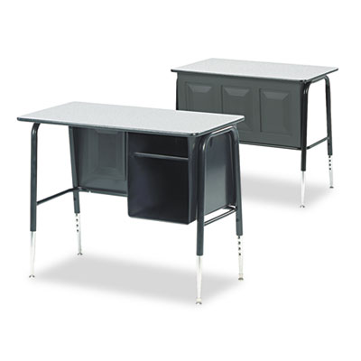 Jr. Executive Desk, 34w x 20d x 30h, Gray Nebula