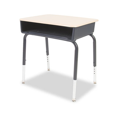 Open Front Student Desk, 24w x 18d, Fusion Maple Top, 2/Carton