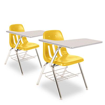 9700 Series Chair Desk, 18-3/4w x 31d x 30-1/2h, Gray Nebula/Squ