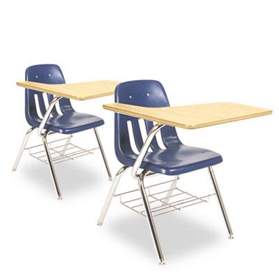 9700 Series Chair Desk, 18-3/4w x 31d x 30-1/2h, Fusion Maple/Na