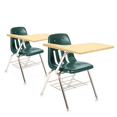 9700 Series Chair Desk, 18-3/4w x 31d x 30-1/2h, Fusion Maple/Gr