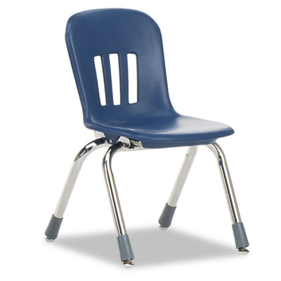 "Metaphor Series Classroom Chair, 12-1/2"" Seat Height, Navy Blue/"