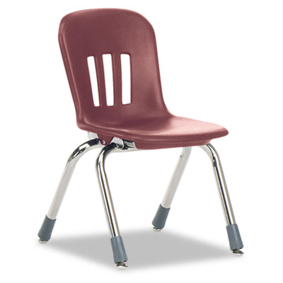 "Metaphor Series Classroom Chair, 12-1/2"" Seat Height, Wine/Chrom"