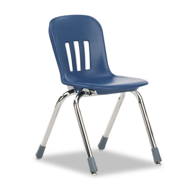 "Metaphor Series Classroom Chair, 14-1/2"" Seat Height, Navy Blue/"