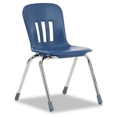 "Metaphor Series Classroom Chair, 16-1/2\"" Seat Height, Navy Blue/"