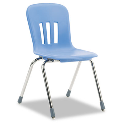 "Metaphor Series Classroom Chair, 18"" Seat Height, Blueberry/Chro"