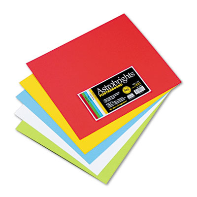 Astrobrights Premium Poster Board, 14 x 12, Five Assorted Colors