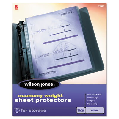 Economy Weight Sheet Protector, Clear, 50/Box