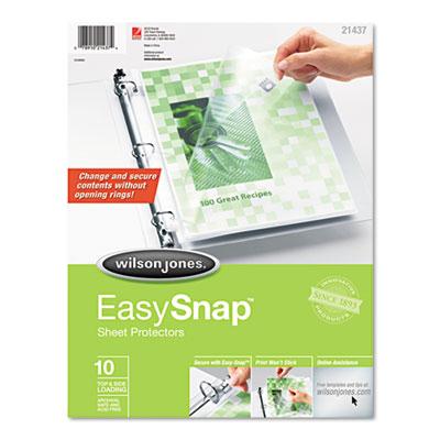 Easysnap Sheet Protector, 10/Pack