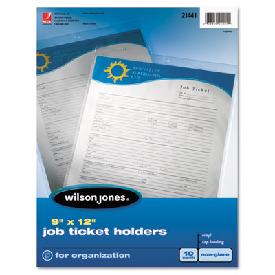 Job Ticket Holder, Non-Glare Finish, Clear Front/Frosted Back, 1