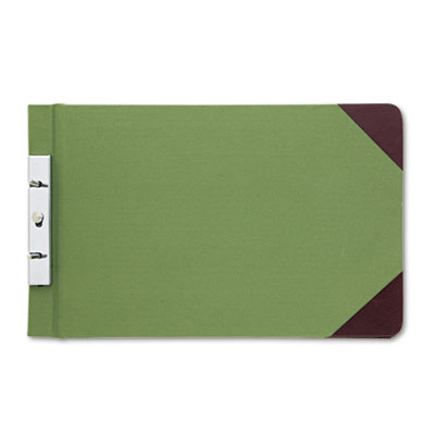 Canvas Sectional Post Binder, 8-1/2 x 14, 2-3/4 Center, Green
