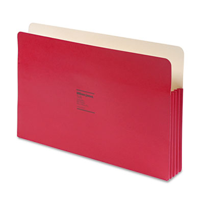 Wilson Jones Co. 74R ColorLife 3 1/2 Inch Expansion File Pocket, Straight Tab, Legal, Red, 25/Box at Sears.com