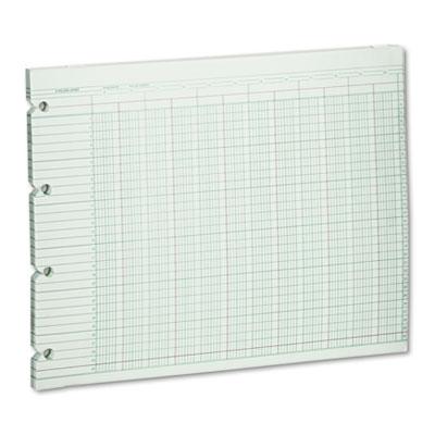 Accounting Sheets, 20 Column, 9-1/4 x 11-7/8, 100 Loose Sheets/P