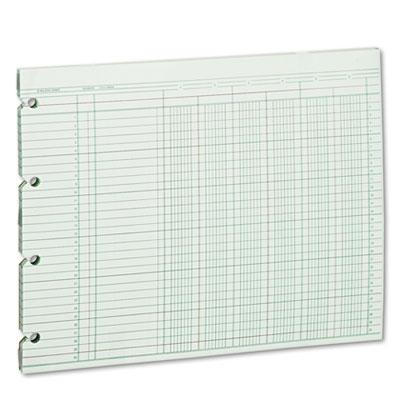 Accounting Sheets, Six Column, 9-1/4 x 11-7/8, 100 Loose Sheets/